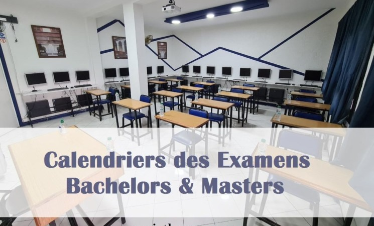 Calendrier des examens Bachelors & Masters - Sessions 2021